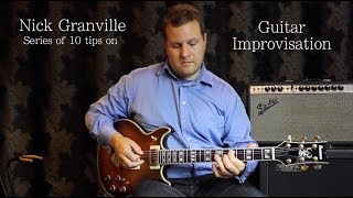 Nick Granville Guitar Lesson: Implying Chord Changes (as used by Pat Metheny) #7 of 10