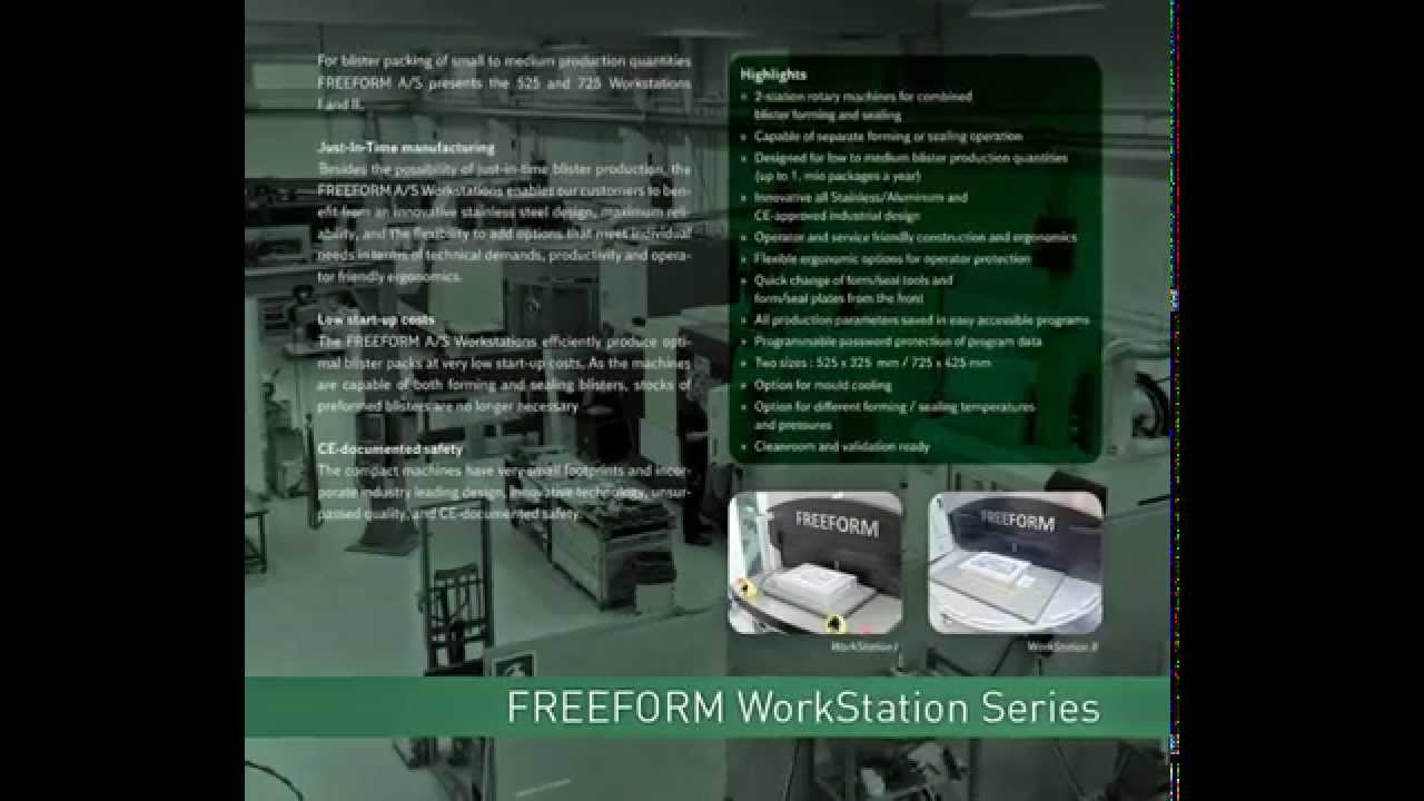 free form workstation  FreeForm A/S - WorkStation Packaging Machine Program