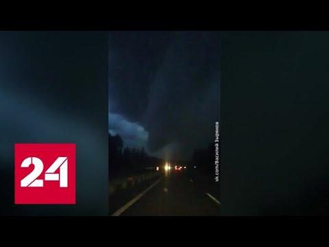 Торнадо в Ленинградской области попал на видео - Россия 24