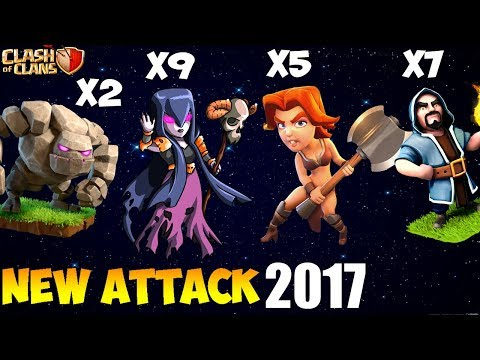 VALKYRIE + WITCH: GOWIVA NEW TH9 STRONG WAR ATTACK STRATEGY 2017 : Clash of Clans