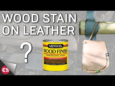 Wood Stain on Leather?