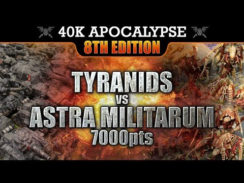 Astra Militarum vs Tyranids Warhammer 40K APOCALYPSE Battle Report THE FALL OF VAIGON!