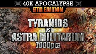 Astra Militarum vs Tyranids Warhammer 40K APOCALYPSE Battle Report THE FALL OF VAIGON!