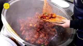신포닭강정 / 신포국제시장 / DAK GANGJEONG (Sweet and sour chicken) / SINPO Int'l MARKET / KOREAN STREET FOOD