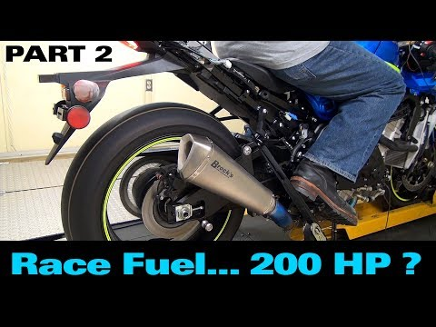 2017 GSX-R1000 S2B: Episode 5 (Part 2) - Dyno Tuning for Max Performance ... 200 HP on Race Fuel?