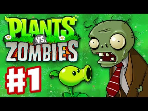 Plants vs. Zombies - Gameplay Walkthrough Part 1 - World 1 (