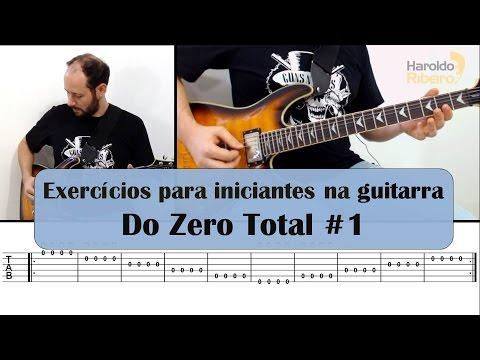 EXERCÍCIOS PARA INICIANTES NA GUITARRA | DO ZERO TOTAL! #1