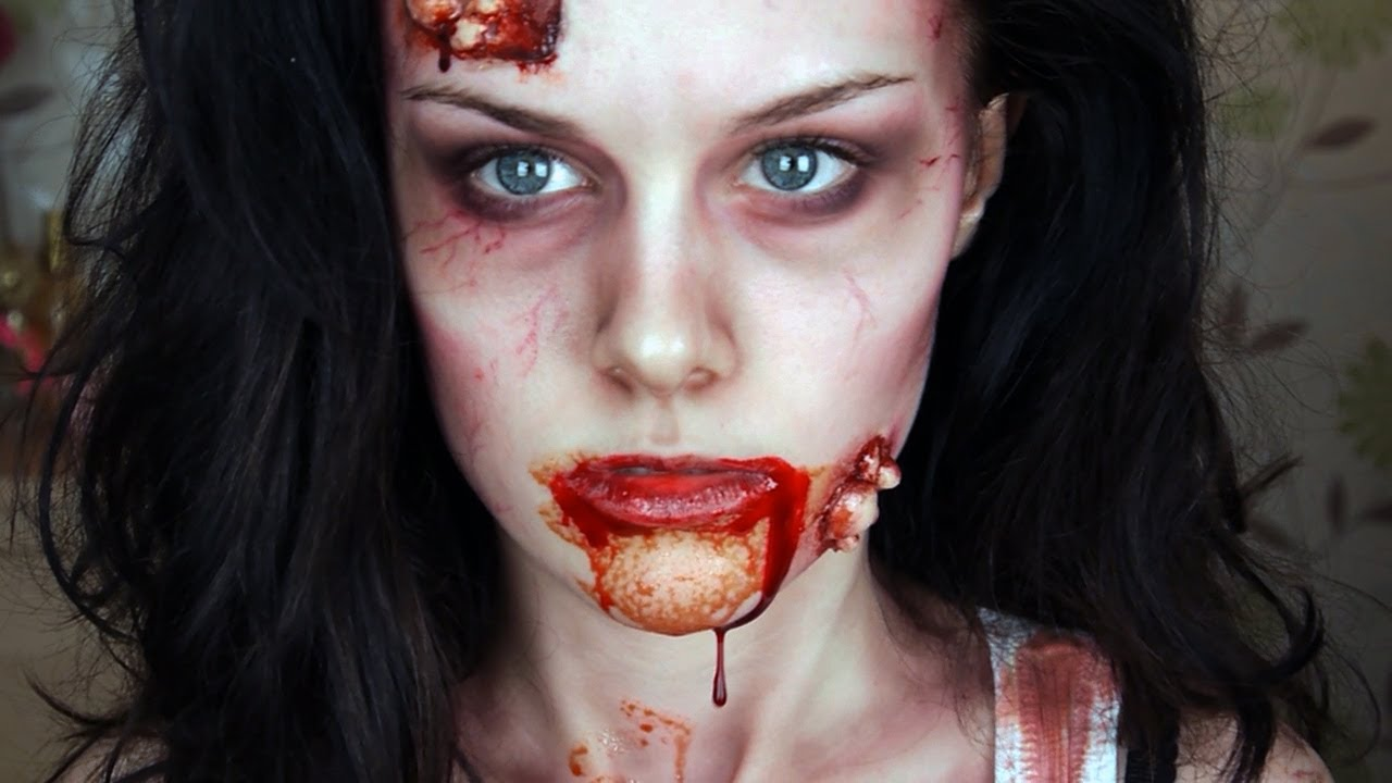 zombie makeup tutorial youtube. Black Bedroom Furniture Sets. Home Design Ideas