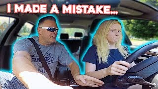 Driving with Dad! *Gone Wrong*