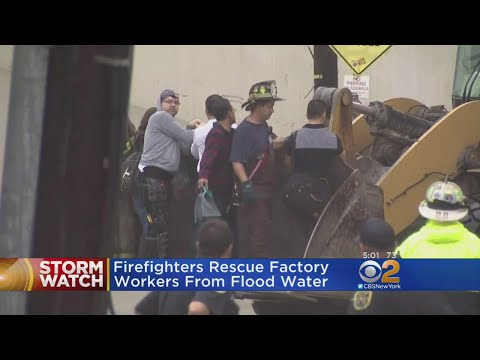 Factory Workers Saved From New Jersey Flooding