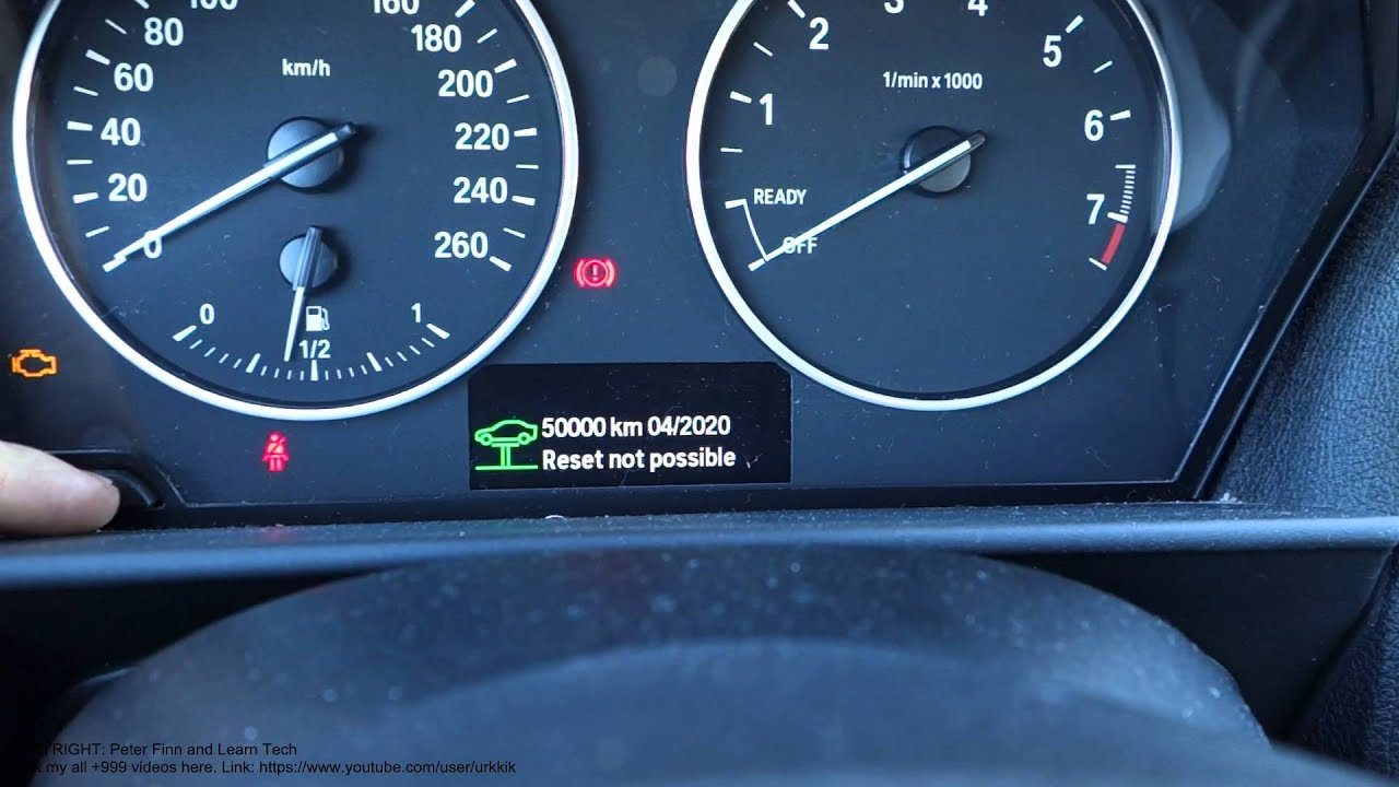 How To Reset All Service Lights Bmw 3 Series Years 2012