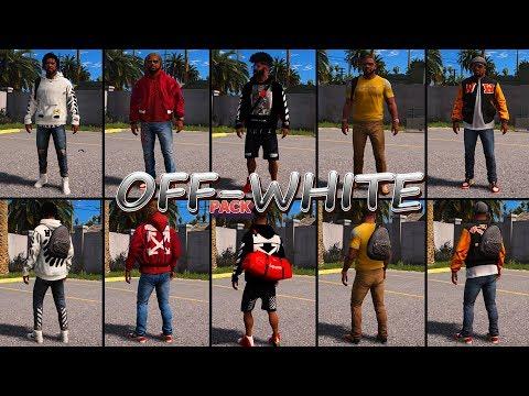 САМЫЙ ДОРОГОЙ ПАК ОДЕЖДЫ OFF-WHITE В GTA 5! КАК УСТАНОВИТЬ КАСТОМНУЮ ОДЕЖДУ В ГТА 5 МОДЫ!