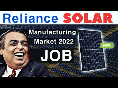 Reliance Solar Module   Market   Manufacturing JOBS / B.Tech / ITI / MBA   Business Forcast.