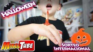 Maquillaje de Halloween El Lápiz clavado en la mano y SORTEO INTERNACIONAL