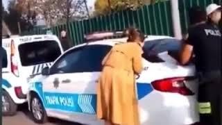 Ehliyetsiz çevirmeye Takılan Kadın