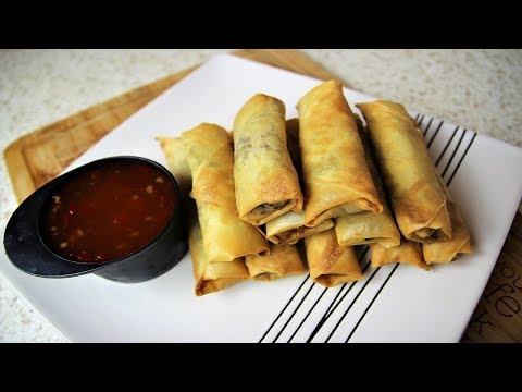 VEGETABLE SPRING ROLLS RECIPE 😋👌| Nigerian Food Recipes