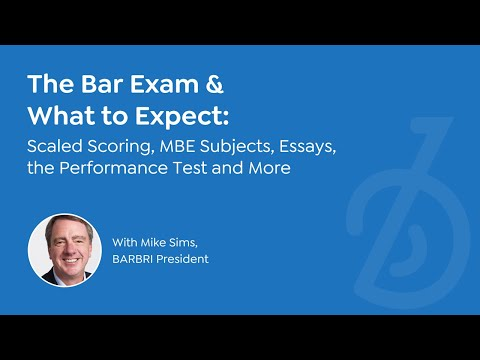 What to expect on the bar exam   Format and scoring, subjects covered, MBE  and essays