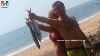 KING FISH FRY MAKING BY RUSSIAN COUPLE | Seer Fish Fry | Surmai Fish Fry