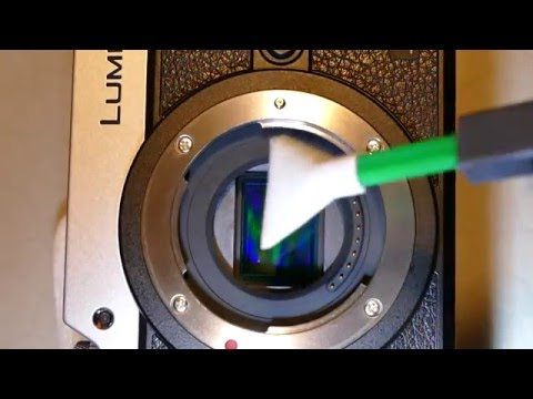 How to clean sensor of Panasonic Lumix GX-8 with MXD-100 Green Vswab, Sensor Clean or Smear Away