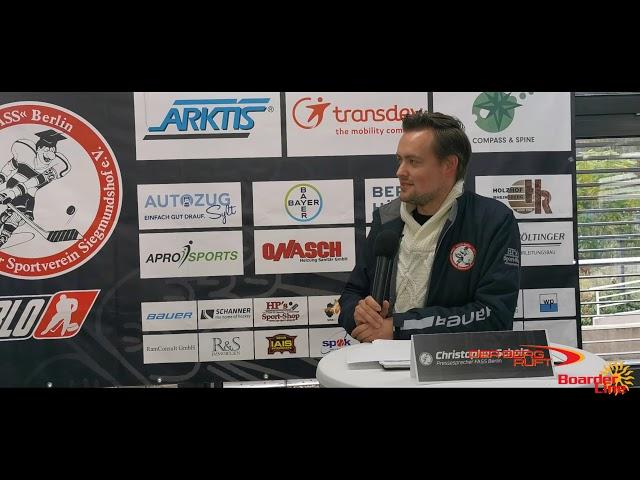 Pressekonferenz F A S S Berlin vs Jungfüchse Weisswasser