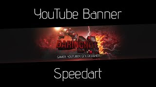 DaringNite YouTube Banner Speedart #6