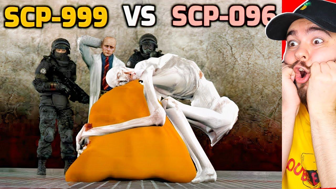 SCP-096 СКРОМНИК ПРОТИВ SCP-999 ЩЕКОТОЧНЫЙ МОНСТР! ЖУТКАЯ АНИМАЦИЯ SCP