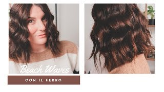 Come fare le ONDE con il FERRO (Beach Waves morbide)  || Federica Effe thumbnail