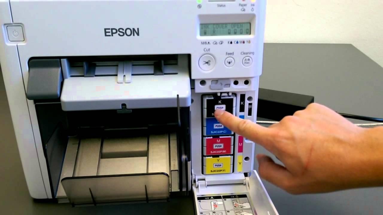 Epson C3500 Patronenwechsel, Rollentausch & Maintenance Box