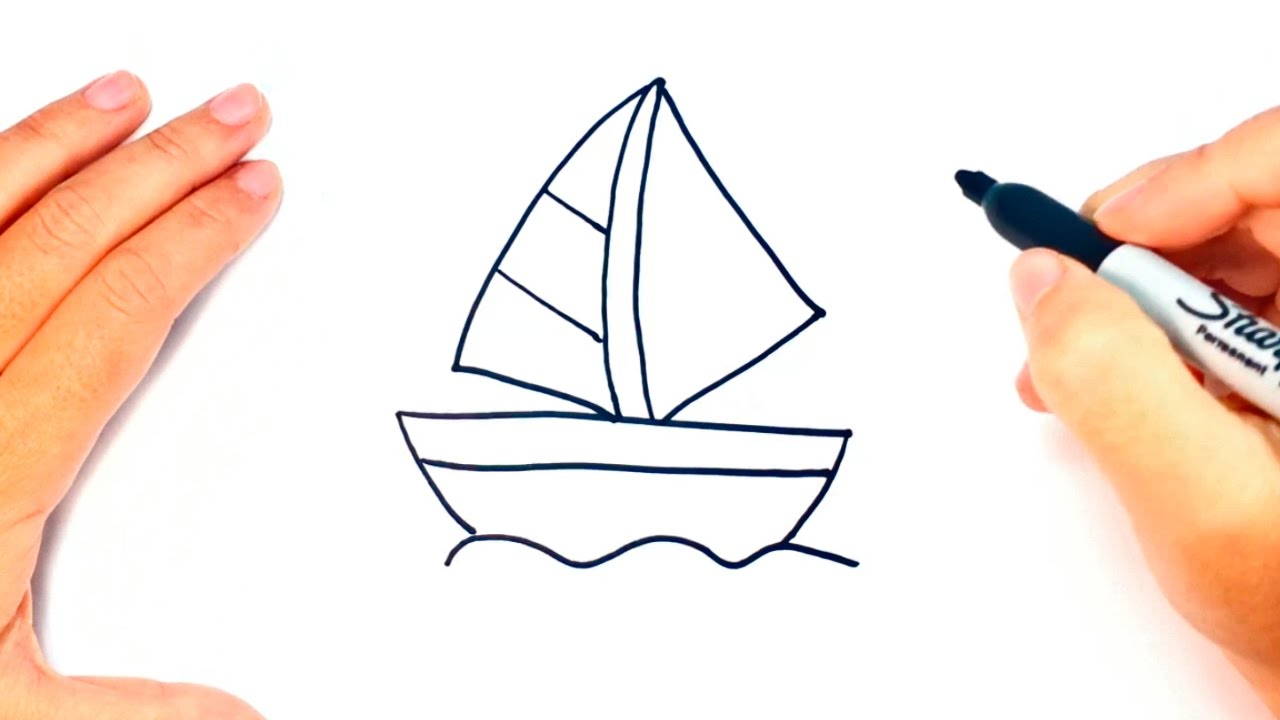 How to draw a Little Boat   Little Boat Easy Draw Tutorial ...