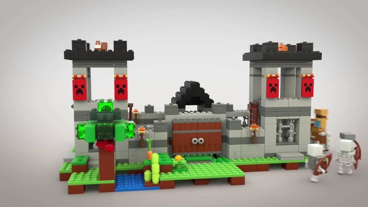 The Fortress Lego Minecraft Model Animation 21127 Youtube