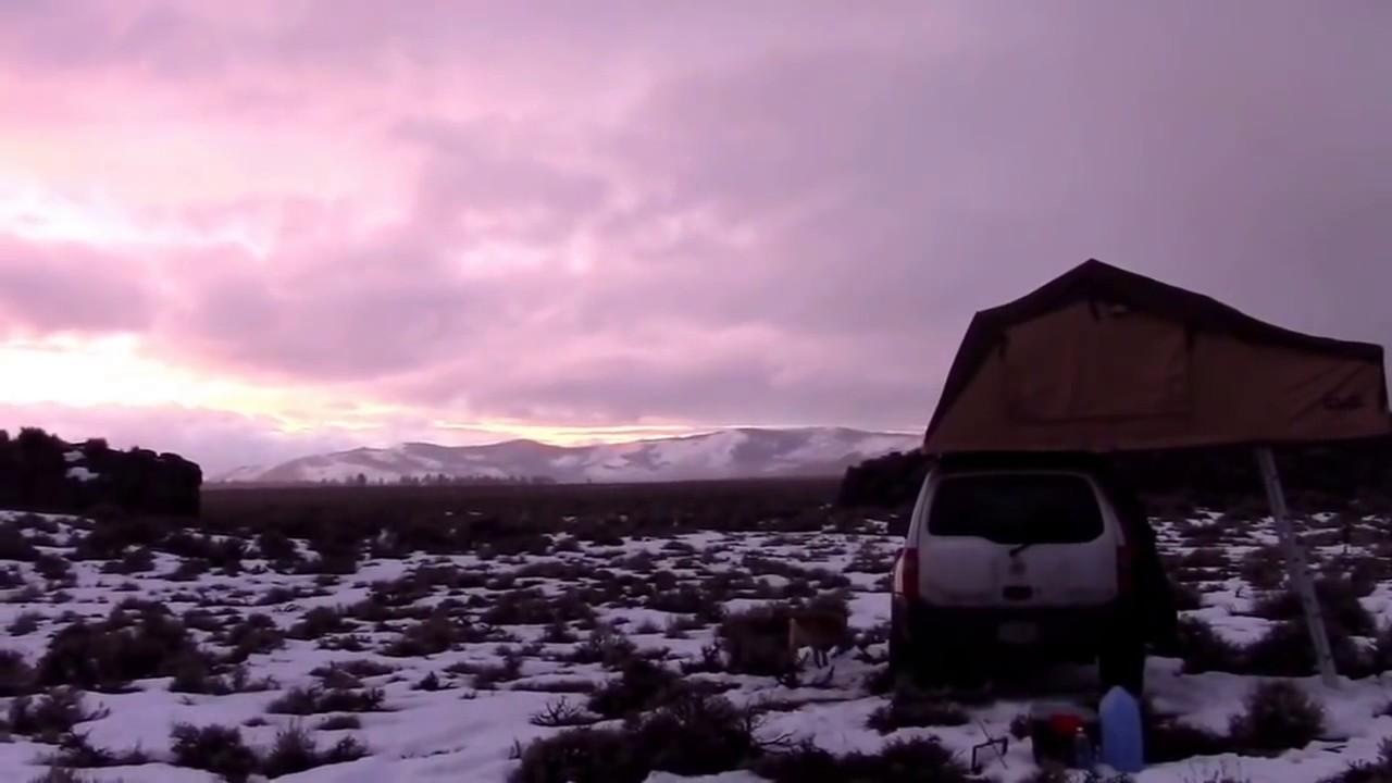 Winter Car Camping on the open Desert of Oregon - Subzero ...