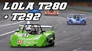Lola T280 + T292 with DFV F1 V8 - 2012 Spa 6h