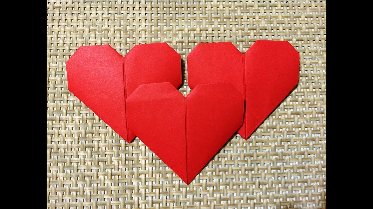 Easy Origami Heart - YouTube - photo#33