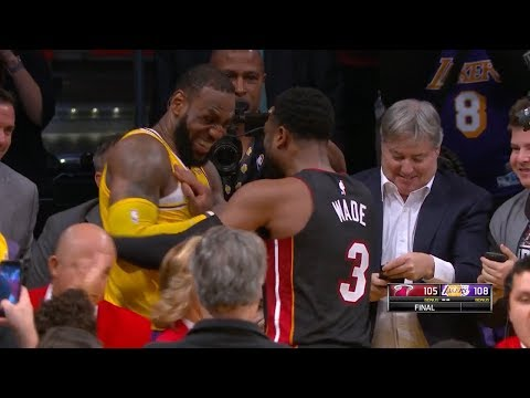 LeBron & Dwyane Wade Exchange Jerseys at the End of the Game - Final Game   Dec 10, 2018
