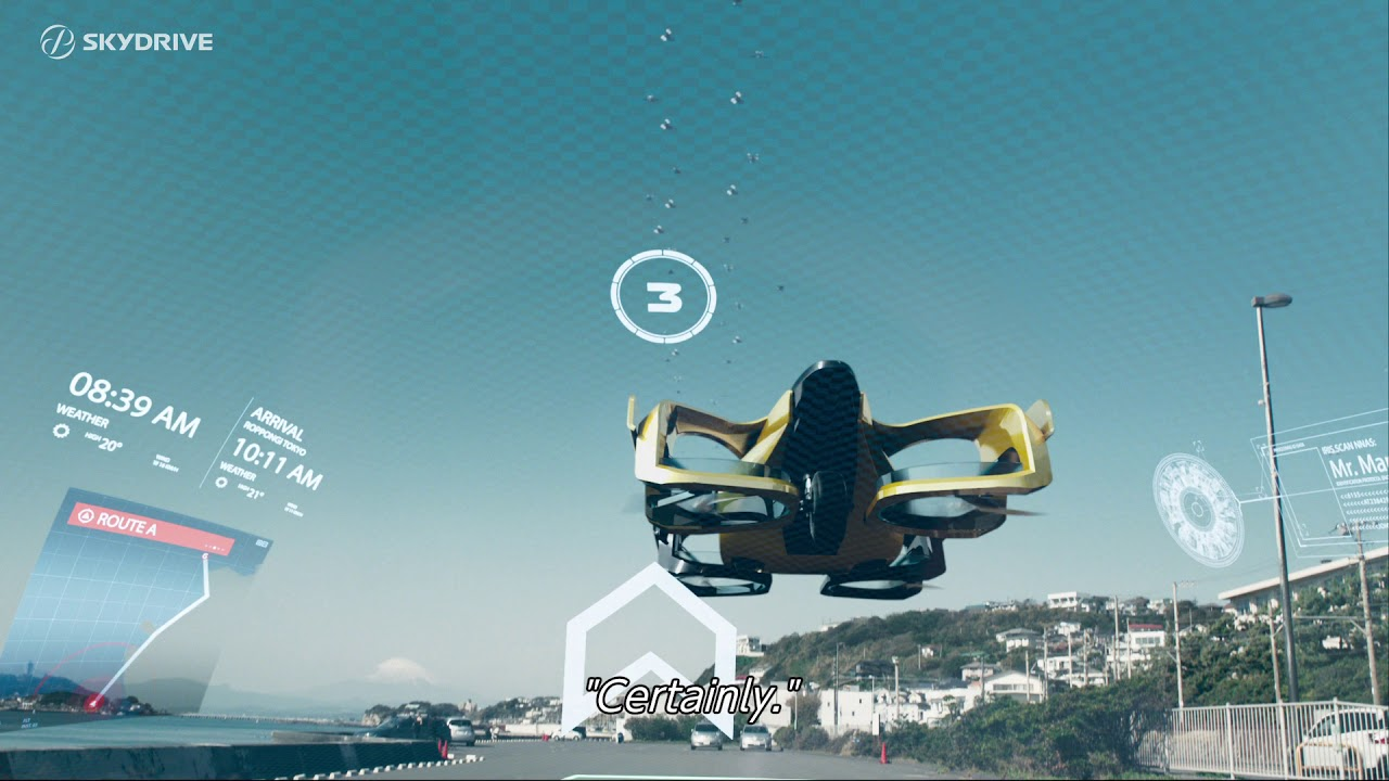 The Future World With Skydrive 2030 The Future World With Flying Cars In 2030 Youtube