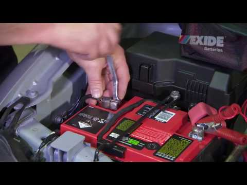 How to Install a car battery by Dynex -  Exide