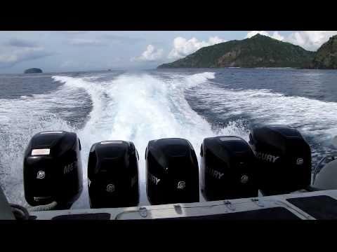 5 Mercury Outboard Motors on the Sea Marlin Fast Boat - Bali to Gili Islands