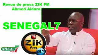 Revue de presse (Wolof) Zik Fm du Vendredi 06 Décembre 2019 avec Ahmed Aidara