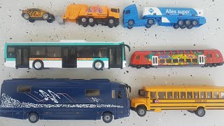 Toy Metal Bus Open Top Bus Toy and Big Toy Bus Unboxing