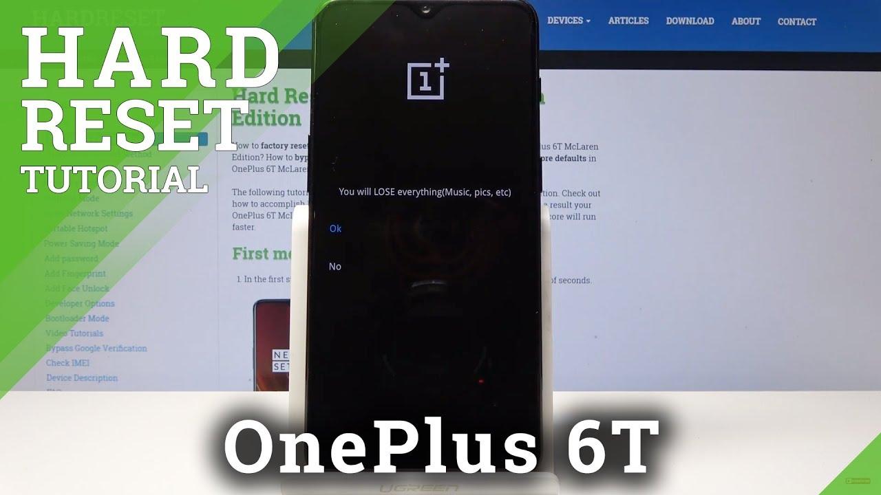 OnePlus 6T HARD RESET / BYPASS SCREEN LOCK