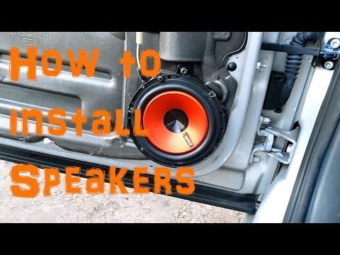 How To Change Door Card Speakers