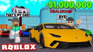 I got my NEW $1,000,000 CAR STOLEN in Roblox!