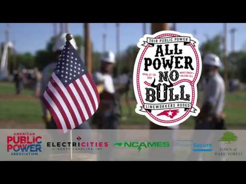 2018 Public Power Lineworkers Rodeo In Wake Forest N C