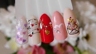 Лёгкий дизайн ногтей на 14 февраля 2020 Маникюр на день Св Валентина обычным лаком