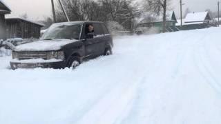 Range Rover по снегу