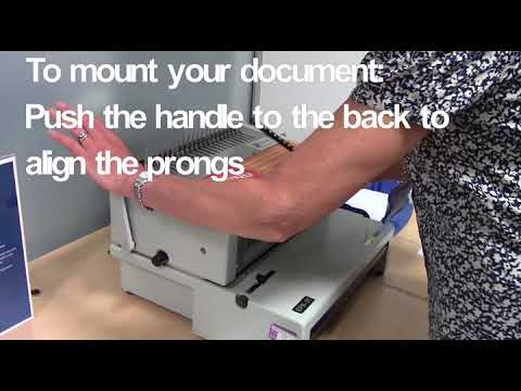 How to comb bind using the electric comb spiral binder machine