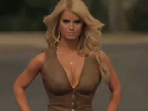 Jessica Simpson Breast Expansion Morph in The Dukes of Hazzard video 1