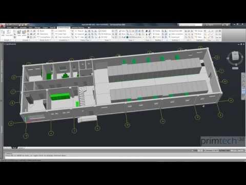 Substation design: BIM - Building Information Modeling - control building for HV substations
