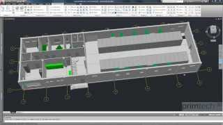 Substation design: BIM - Building Information Modeling - control building for HV substations