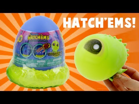 Squishy Pop Eggs : Hatch ems Pop and Grow Dinosaur Eggs! Squishy Toys! - YouTube